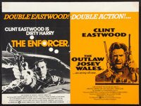 """The Enforcer/The Outlaw Josey Wales Combo (Warner Brothers, R-1970s). British Quad (30"""" X 40""""). Crime"""