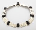 Jewelry, A MEXICAN SILVER AND ONYX NECKLACE. Hector Aguilar, Taxco, Mexico, circa 1945. Marks: MADE IN MEXICO STERLING (circling)...