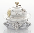 Silver Holloware, American:Other , AN AMERICAN SILVER AND SILVER GILT COVERED BUTTER DISH. Tiffany& Co., New York, New York, circa 1879. Marks: TIFFANY &CO... (Total: 2 Items)