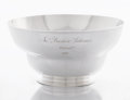 Silver Holloware, American:Bowls, A COLONIAL AMERICAN SILVER BOWL. Daniel Christian Fueter, New York,New York, circa 1760. Marks: DCF (struck twice), N...