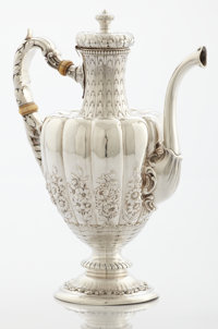 AN AMERICAN SILVER COFFEE POT Gorham Manufacturing Co., Providence, Rhode Island, circa 1890 Marks: (lion-ancho