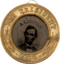 Political:Ferrotypes / Photo Badges (pre-1896), Lincoln & Johnson: Popular 1864-Dated Campaign Ferrotype....