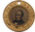 Political:Ferrotypes / Photo Badges (pre-1896), Bell & Everett: Beautiful 1860 Ferrotype....