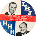 Political:Pinback Buttons (1896-present), Johnson & Humphrey: Key Union Labor-Related Jugate. ...
