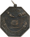 Political:Presidential Relics, [Abraham Lincoln] Robert Todd Lincoln's Engraved Coin Silver Hasty Pudding Medal, Circa 1863....