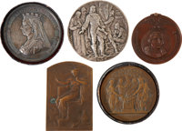 Commemorative Medals and Medallions: Lot of Five
