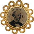 Political:Ferrotypes / Photo Badges (pre-1896), Horatio Seymour: Beautiful 1868 Campaign Ferrotype....