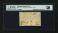 Colonial Notes:Georgia, Georgia September 10, 1777 $1/2 PMG Very Fine 30....