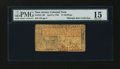 Colonial Notes:New Jersey, New Jersey April 8, 1762 15s PMG Choice Fine 15....