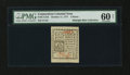 Colonial Notes:Connecticut, Connecticut October 11, 1777 4d Slash Cancel PMG Uncirculated 60Net....