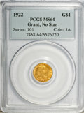 Commemorative Gold, 1922 G$1 Grant No Star MS64 PCGS....
