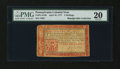 Colonial Notes:Pennsylvania, Pennsylvania April 10, 1777 3s Red and Black PMG Very Fine 20....