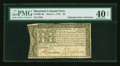 Colonial Notes:Maryland, Maryland March 1, 1770 $8 PMG Extremely Fine 40 Net....