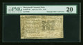 Colonial Notes:Maryland, Maryland April 10, 1774 $1/9 PMG Very Fine 20....