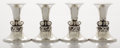 Silver Holloware, American:Candle Sticks, A SET OF AMERICAN SILVER CANDLESTICKS. Alphonse La Paglia, NewYork, New York, circa 1950. Marks: (one pair) La Paglia, GE...(Total: 4 Items)