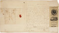 Autographs:Statesmen, Henry Clay: 1844 Autograph Letter Signed with Political Content,along with a Silk Campaign Ribbon. ...
