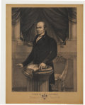 "Political:Small Paper (pre-1896), John Quincy Adams: ""John Q. Adams, President of the United States"", Circa 1826. ..."