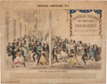 """Political:Posters & Broadsides (pre-1896), Anti-Abraham Lincoln: Important Large, Full Color 1864 Campaign Cartoon Titled """"The Miscegenation Ball.""""..."""