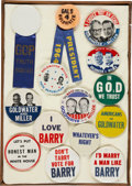Political:Pinback Buttons (1896-present), Barry Goldwater: Lot of Forty Large 1964 Presidential Campaign Pinbacks with Many Anti-Goldwater and Anti-Johnson Examples.... (Total: 41 Items)