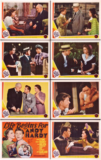 """Life Begins for Andy Hardy (MGM, 1941). Lobby Card Set of 8 (11"""" X 14""""). ... (Total: 8 Items)"""