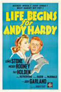 """Movie Posters:Comedy, Life Begins for Andy Hardy (MGM, 1941). One Sheet (27"""" X 41"""") Style D.. ..."""