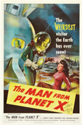 "Movie Posters:Science Fiction, The Man from Planet X (United Artists, 1951). Autographed One Sheet(27"" X 41"").. ..."