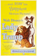 "Movie Posters:Animated, Lady and the Tramp (Buena Vista, 1955). One Sheet (27"" X 41"").. ..."