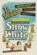 "Movie Posters:Animated, Snow White and the Seven Dwarfs (RKO, R-1943). One Sheet (27"" X41"").. ..."