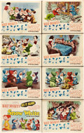 "Movie Posters:Animated, Snow White and the Seven Dwarfs (RKO, R-1943). Lobby Card Set of 8 (11"" X 14"").. ... (Total: 8 Items)"