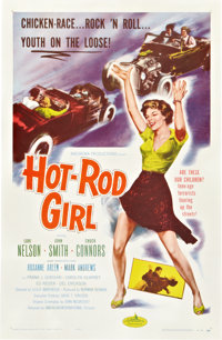 "Hot Rod Girl (American International, 1956). One Sheet (27"" X 41""). Bad Girl"