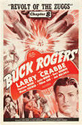 "Movie Posters:Serial, Buck Rogers (Universal, 1939). One Sheet (27"" X 41""). Chapter 8 --""Revolt of the Zuggs."". ..."