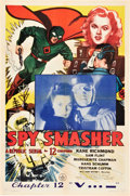 "Movie Posters:Serial, Spy Smasher (Republic, 1942). One Sheet (27"" X 41"") Chapter 12 --""V . . . -."". ..."