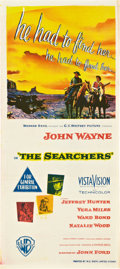 """Movie Posters:Western, The Searchers (Warner Brothers, 1956). Australian Daybill (13"""" X 30"""").. ..."""