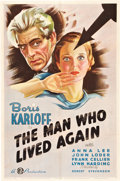 "Movie Posters:Horror, The Man Who Lived Again (Gaumont, 1936). One Sheet (27"" X 41"").Horror.. ..."