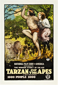 "Tarzan of the Apes (First National, 1918). One Sheet (27"" X 41"")"