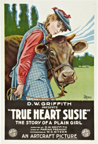 "True Heart Susie (Artcraft, 1919). One Sheet (27"" X 41"")"