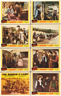 """Movie Posters:Western, The Ranger and the Lady (Republic, 1940). Lobby Card Set of 8 (11"""" X 14"""").. ..."""