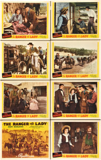 """The Ranger and the Lady (Republic, 1940). Lobby Card Set of 8 (11"""" X 14"""")"""
