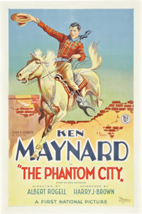 "The Phantom City (First National, 1928). One Sheet (27"" X 41"")"