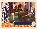 "Movie Posters:Romance, Behind Office Doors (RKO, 1931). Lobby Card (11"" X 14"").. ..."