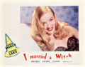 "Movie Posters:Fantasy, I Married a Witch (United Artists, 1942). Lobby Card (11"" X 14"")....."