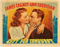 "Movie Posters:Drama, City for Conquest (Warner Brothers, 1940). Lobby Card (11"" X 14"")....."