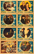 "Movie Posters:Drama, Smashing the Money Ring (Warner Brothers, 1939). Lobby Card Set of8 (11"" X 14"").. ..."