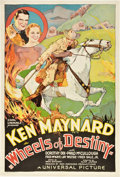 "Movie Posters:Western, Wheels of Destiny (Universal, 1934). One Sheet (27"" X 41"").. ..."