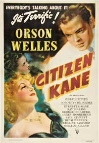 "Citizen Kane (RKO, 1941). One Sheet (27"" X 40"") Style B"
