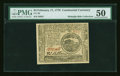 Colonial Notes:Continental Congress Issues, Continental Currency February 17, 1776 $4 PMG About Uncirculated50....