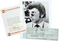 Music Memorabilia:Autographs and Signed Items, Phil Spector Signed Check.... (Total: 3 )