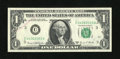Error Notes:Ink Smears, Fr. 1907-c $1 1969D Federal Reserve Note. Extremely Fine....