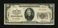 National Bank Notes: , Roanoke, VA - $20 1929 Ty. 1 The Colonial-American NB Ch. # 11817....