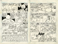 "Sheldon Mayer - Ronald McDonald Comic, 8-page Story ""A Fun Trip Thru McDonaldland"" Original Art (DC, 1982)"
